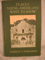 antique old children's book travel United States LAKE GEORGE Niagara Falls green