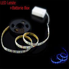 LED Stripe Blau licht 100cm+ Lichtschalt + Batterie BOX 4.5V LED Leiste Streifen