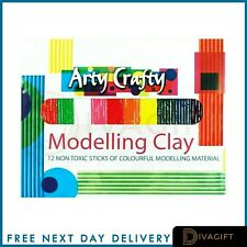 Kids Modelling Clay Set Plasticine 12 Pack Non Toxic Play Craft & Create 3+Years