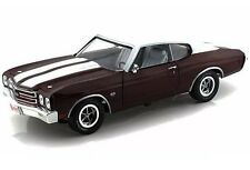 1970 CHEVROLET CHEVELLE SS 454 BLACK CHERRY 1:18 LTD 1500PC AUTOWORLD AMM1011