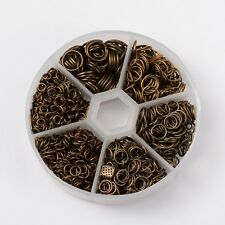 A Box of Assorted Antique Bronze Plated Jump Rings  J1535ab