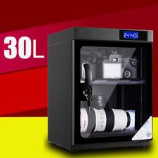 Digital Dehumidify Dry Box Transparent Door Cabinet Box Camera & Lens 30L
