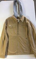 VOLCOM Boys Large Khaki Jacket w/ Grey Hood FXK
