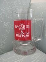 Vintage 1978 Bacardi Rum & Coca Cola Glass Mug Stein