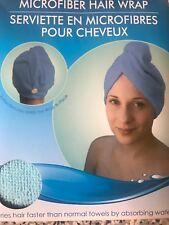 New April Bath & Shower Blue Microfiber Hair Wrap Towel