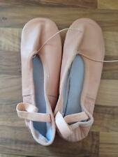 Nuevos Zapatos De Ballet Cuero Talla 36 Suela Completa Con presewn Elástico