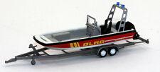 Wiking 009548 Lehmar MZB 72 Multi-Purpose Boat w/Trailer DLRG Fire Dept 1/87 HO