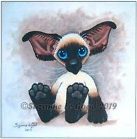 Siamese Cat art print large from original painting sealpoint by Suzanne Le Good