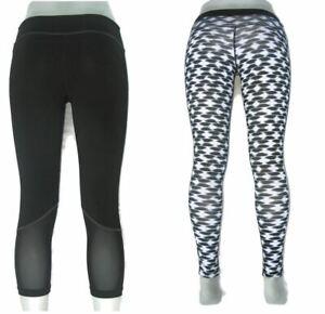 2 Pairs of Nike & Zella Skinny Running Workout Yoga Leggings Womens Sz S