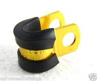 Universal JMP Pro-Bolt Motorcycle Brake Line Hose Holder 5 mm Anodised Alu Gold