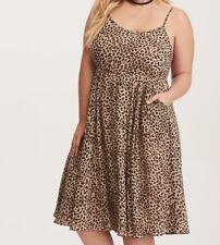e9d0bffef4b Torrid Leopard Print Chiffon Midi Dress 00X Med Large 10  87589