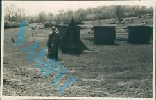Orig WW2 Photo Operation Bodyguard D Day Deception Dummy soldiers & Defences