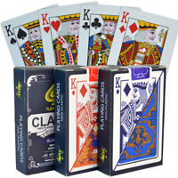 New 10 Decks Classic 100% Plastic Playing Cards Bridge Size Regular Index