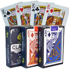 Classic 100% Plastic Playing Cards Bridge Size Regular Index 1 RANDOM DECK New