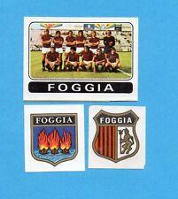 FIGURINA PANINI 1972/73-n.394- FOGGIA -SQUADRA+STEMMA+SCUDETTO -Recuperata