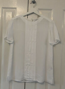 Ladies Reiss White Top UK Size 12 Career Wear Office Night Out Smart