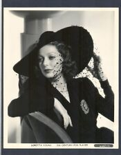 BEAUTIFUL LORETTA YOUNG 1937 FASHION PHOTO BY POWOLNY - N MINT COND - GLAMOR