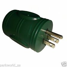 Parkworld 691753 Generator Adapter 3-Prong 5-15P Male to Locking L5-30R Female