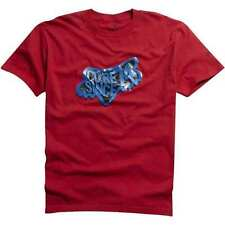 NEW Mens FOX RACING Graphic S/S T-Shirt Tee Amulet Size Large LG L Red Blue