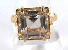 Quartz Yellow Gold Plated Handmade Fashion Rings