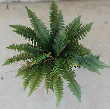 SILK BULK MEDIUM SIZE GREEN BOSTON FERN PLANT ARTIFICIAL TREE FLOWER 67CM WIDE