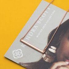 Kendra Scott Kelsey Pendant Necklace In Rose Gold NEW