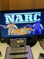 🔥100% WORKING NINTENDO NES RARE FUN CLASSIC Game Cartridge NARC JUST SAY NO 🔥