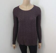 American Eagle Womens Knit Sweater Size XS Dark Purple Side Zipper