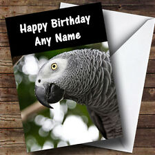 African Parrot Personalised Birthday Greetings Card