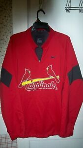 NIKE St. Louis Cardinals Pullover Windbreaker Jacket Red Men's XL