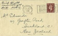 More details for aviation, first flight unsurcharged air mail, scotland- new zealand, 1938, cover