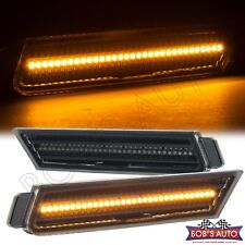 10-15 Chevy Camaro SS ZL1 Z28 Clear Front Bumper Side Marker Lights Amber LED
