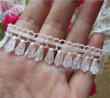 3 yard Vintage Fringe Lace Edge Trim Wedding Tassel Ribbon Applique Sewing Craft