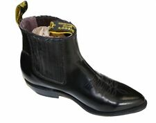 MEN'S GENUINE LEATHER WESTERN STYLE COWBOY SLIP ON BOOTS~ BRAND NEW