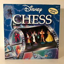 Disney Chess Collector's Edition Heroes & Villains Figurines Rare VHTF Box Set