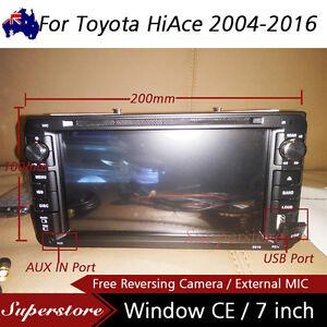 "7"" Car DVD GPS Navigation usb Stereo head unit player For Toyota HiAce 2004-2016"