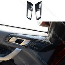 for Ford Ranger Carbon fiber color Inner Door Handle Bowl Frame Decorator Cover