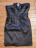 WHBM size 10 White House Black Market  Satin Strapless  Cocktail Dress 46-114