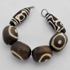 """Dzi Resin 7"""" Beads Strand Tibetan Nepalese Handmade  Ethnic Tribal Nepal BS1066"""
