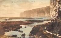 br109702 thanet cliffs kingsgate real photo  uk