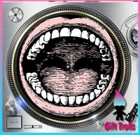 "Open Mouth Turntable Slipmat - 12"" LP Record Player, DJ"