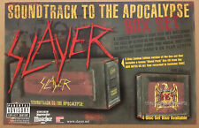 Slayer Rare 2003 Promo Poster for Apocalypse Box Set Cd 17x11