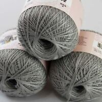 Sale 3 BallsX50gr Cotton Crochet Thread Yarn Craft Tatting Knit Embroidery 22