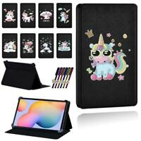Unicorn Leather Smart Stand Case Cover For Samsung Galaxy Tab S5e /S6 / S7 + Pen
