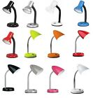 Flexi Flexible Neck Table Desk Lamp Home Bed Side Night Reading Light With Bulb