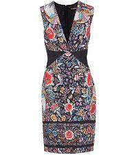 Roberto Cavalli Sleeveless Floral Sheath Dress Orig:$1190.00 Size 42 IT (6 US)