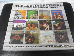 THE LOUVIN BROTHERS - COMPLETE RECORDED WORKS 1952-62 - 6CD SET - NEW / SEALED