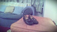 Black Moccasin design wedge size 5 shoes by Trueform