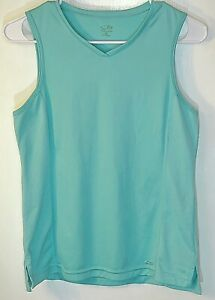 Champion C9 Teal V-Neck Sleeveless Athletic Performance Women's Top Size M 15763