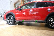 fit Subaru XV Hatchback 2017 2018 Chrome Body Side Door Molding Line Cover Trim